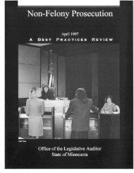 Non-Felony Prosecution - Office of the Legislative Auditor