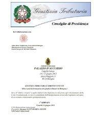 Locandina - Consiglio di Presidenza della Giustizia Tributaria