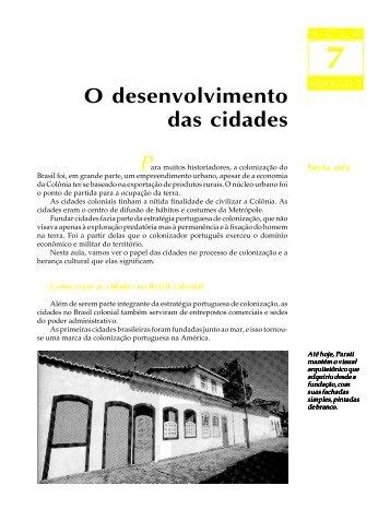 07. O desenvolvimento das cidades - Passei.com.br