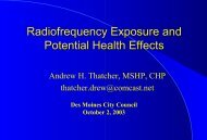 RF Radiation Exposure and Potential Health Effects