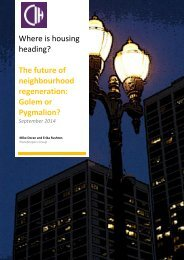 Policy essay 10 - The future of neighbourhood regeneration - Golem or Pygmalion - September 2014