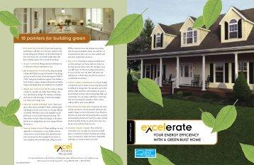 Green brochure - Excel Homes