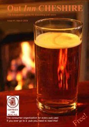 Real Ale in a Bottle - Out Inn Cheshire