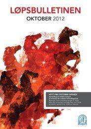 Løpsbulletinen for oktober 2012 - Det Norske Travselskap