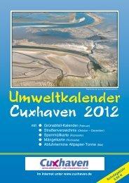 Umweltkalender 2012 - Stadt Cuxhaven