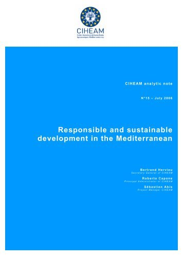 Responsible and sustainable development in the Mediterranean