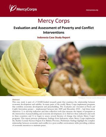 case study mercy corps Local and regional procurement: a case study of mercy corps' programming in haiti, kyrgyzstan and niger emily wei june 30, 2011 congressional hunger center, leland international hunger fellow.