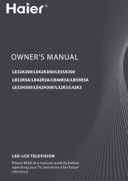 owner's manual led-lcd television - Haier