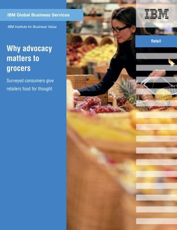 Why advocacy matters to grocers - Bitpipe