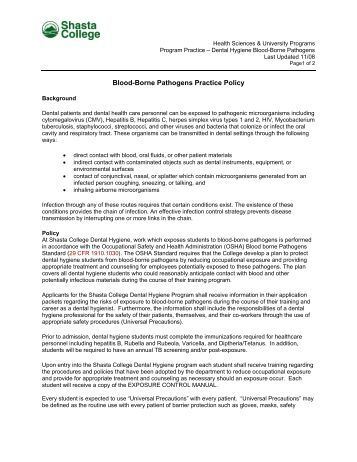 bloodborne pathogens policy template - nfpa 704 placards and labels shasta college