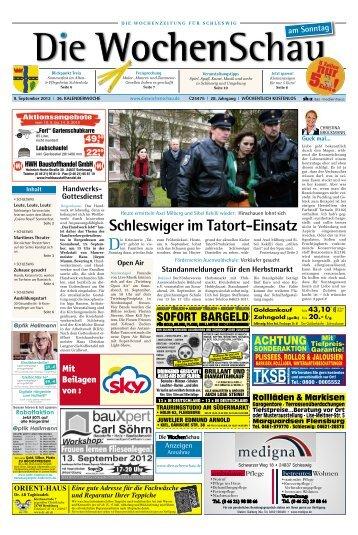 Schleswiger im Tatort Einsatz - Die Wochenschau