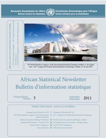 Volume 5, No. 3, Septembre 2011 - United Nations Economic ...
