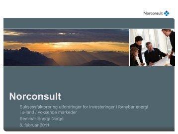 Prosjekter i studien - Energi Norge