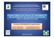 etude d'impacts du projet de traitement et de valorisation des ...
