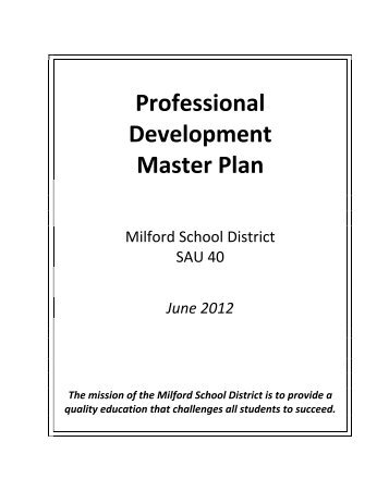 district professional development plan template - 4 0 master plan support material clovis municipal school