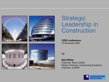 Bob White - Constructing Excellence