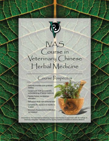 IVAS Course in Veterinary Chinese Herbal Medicine - Vet-congress