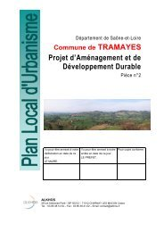 Projet d'Aménagement et de Développement Durable - Plan Local d ...