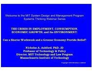 Download the presentation slides - MIT SDM