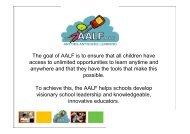 Leadership that Inspires Innovation - Alberta 1:1 Wireless Learning ...