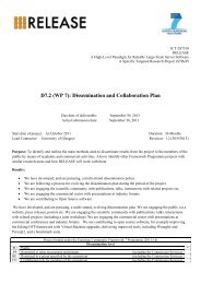 Dissemination and Collaboration Plan - RELEASE Project