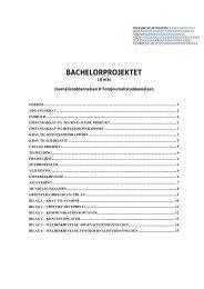 BACHELORPROJEKTET - Danmarks Medie- og Journalisthøjskole