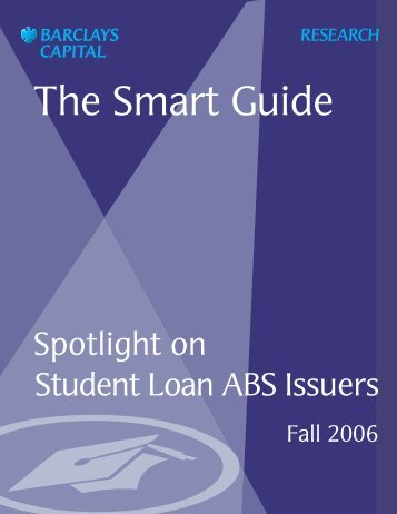Spotlight on Student Loan ABS Issuers - Institute for Higher ...