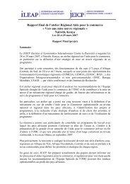 Rapport final de l'atelier Régional Aide pour le commerce - ILEAP