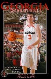 Georgia Basketball Program In Memoriam of ... - Sicemdawgs.com