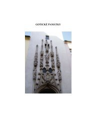 Gotické památky - texty