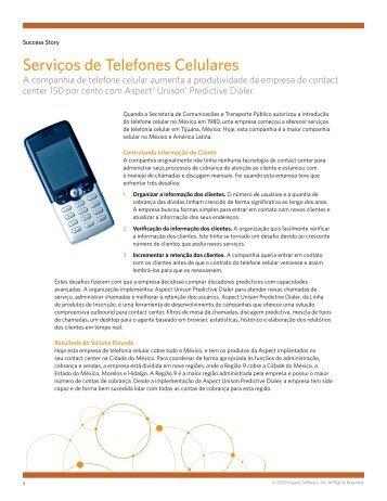 Serviços de Telefones Celulares - Aspect