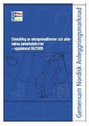 Utveckling av entreprenadformer och alternativa ... - Statens vegvesen