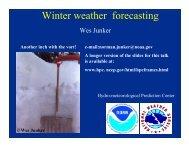 Wes Junker - Hydrometeorological Prediction Center - NOAA