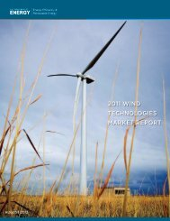 2011 Wind Technologies Market Report - EERE - U.S. Department ...