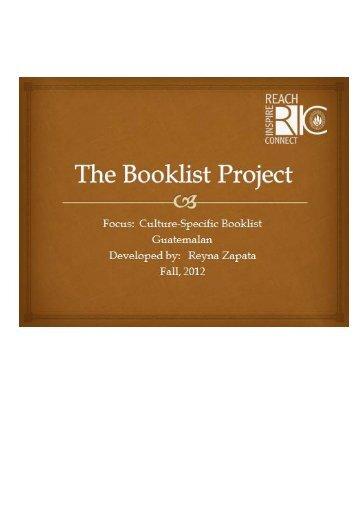 Guatemalan Booklist by Reyna Zapata for Grades K-5.pdf - RITELL