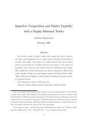 Imperfect Competition and Market Liquidity with a Supply Informed ...