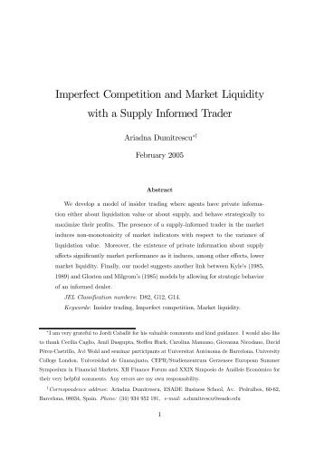 what happens in a market when information is imperfect Imperfect information is the cause of the moral hazard problem if an insurance company had perfect information on risk, it could simply raise its premiums every time an insured party engages in riskier behavior.