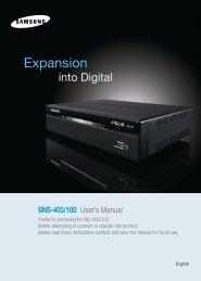 SNS-400/100 User's Manual - Samsung CCTV