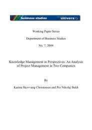 Knowledge Management in Perspectives: An Analysis of Project ...