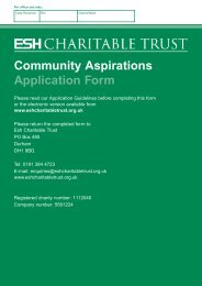 Community Aspirations Application Form - Esh Group