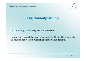 Die Bauleitplanung - Prof-rauch-tu-dresden.de