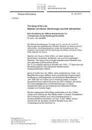 Pressemitteilung zur Ausstellung - Stiftung Brandenburger Tor