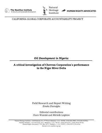 Oil Development in Nigeria: Chevron