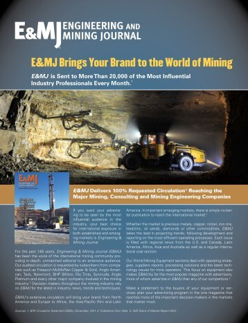 E&MJ Brings Your Brand to the World of Mining - Mining Media ...