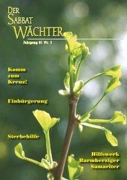 Jahrgang 81 Nr. 2 - Reformierte Siebenten-Tags-Adventisten in ...