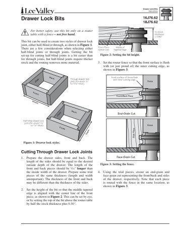 Drawer Lock Bits - Lee Valley Tools