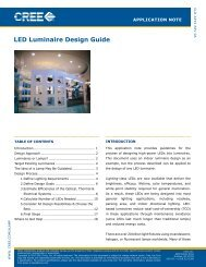 Cree Application Note: LED Luminaire Design Guide - Cree, Inc.