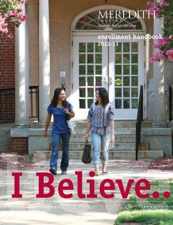 enrollment handbook - Meredith College