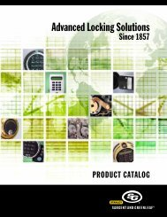 Product Catalog - Sargent and Greenleaf