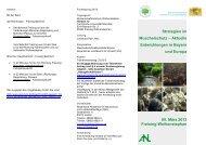 Programm Fachtagung Muschelschutz 05. März 2013 - Lehrstuhl für ...